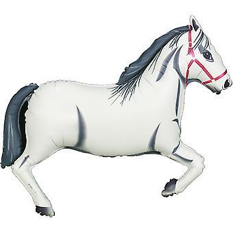Oaktree Metallic 43 Inch White Horse Design Balloon