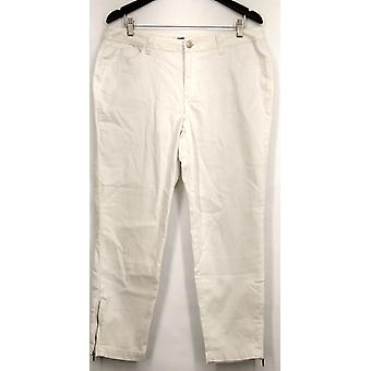 Kate & Mallory Jeans 5 Pocket Skinny w/ Ankle Zipper Detail White A428724