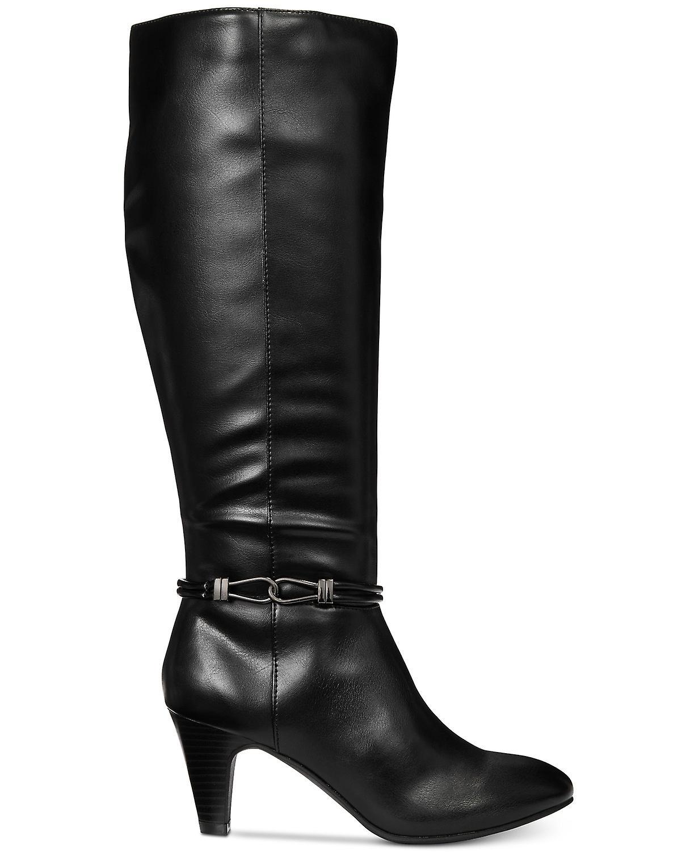 Karen Scott Womens Hollee tkaniny migdałów palców kolana wysokie Moda Buty MSoTS