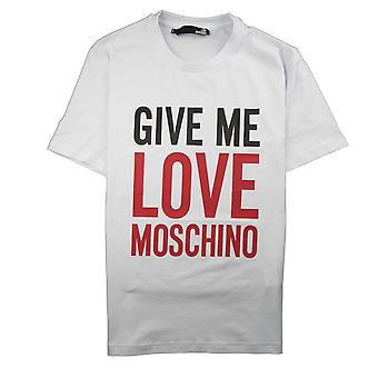 Love Moschino Give Me Love T-Shirt White