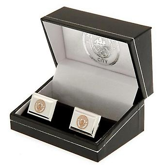 Manchester City FC Mens Plated Cufflinks