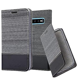 Cadorabo Case for Samsung Galaxy S10 PLUS Case Cover - Phone Case with Magnetic Closure, Stand Function and Card Case Compartment - Case Cover Case Case Case Case Book Folding Style