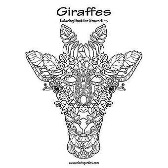Giraffe libro da colorare per adulti 1