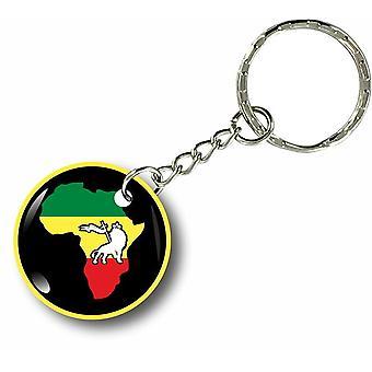 Keychain Key Key Cles Door Car Africa Flag Rasta Jamaique Rastafarai