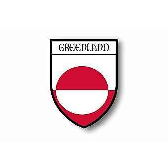 Autocollant Sticker Voiture Moto Blason Ville Drapeau Groenland