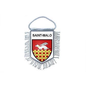 Fanion Mini Flag Country Car Decoration Souvenir Blason France Saint Malo