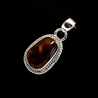 Mexican Fire Agate Pendant 1 1/4