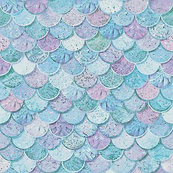 Mermazing sirena escalas brillo fondo de pantalla Arthouse 698305 azul hielo