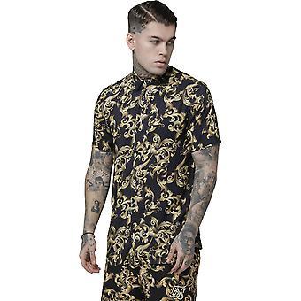 Sik Silk Resort Short Sleeve Shirt Navy/Venetian 86