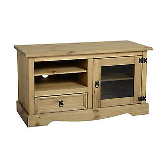 Corona Entertainment Unit Distressed Gewachste Kiefer/Glas