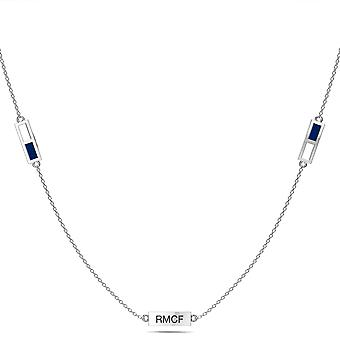 Real Madrid FC Pendant Necklace In Sterling Silver Design by BIXLER