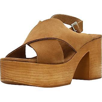 Gele sandalen gaan zone kleur Muscade