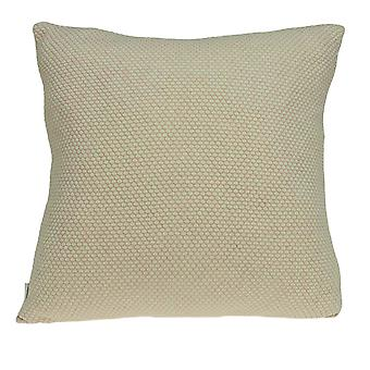 Casual Square Sweater Strik Beige Accent Pillow Cover
