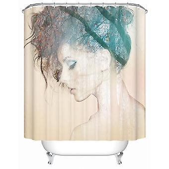 Künstlerische schöne Mädchen Dusche Vorhang