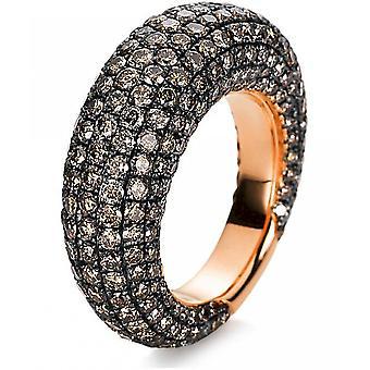 Anillo de diamantes - 18K 750/- oro rojo - 6.76 ct. Tamaño 54
