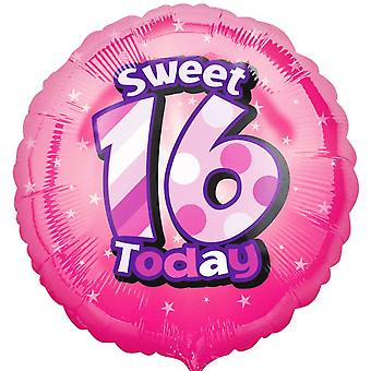 Anagram 18 Inch Happy Sweet 16 Birthday Circle Foil Balloon