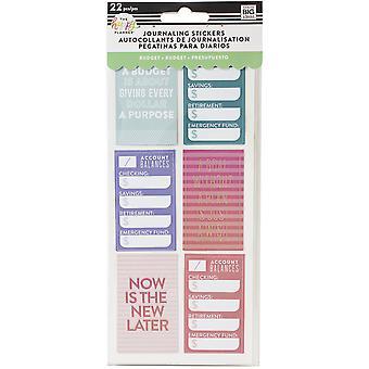 Happy Planner Medium Flip Stickers 5/Sheets-Budget, 22/Pkg