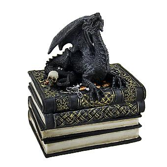 Keskiaikainen lohikäärme antiikki kirjoja Trinket / jemma laatikko
