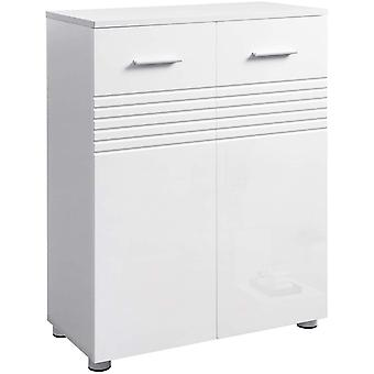 Compact storage cabinet with 2 doors