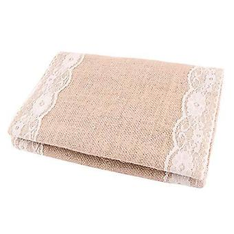 Polka dot sky 1/3/10 pack hessian table runners lace (275cmx30cm)