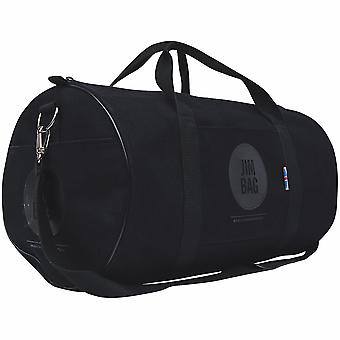 JIMBAG Black Holdall Sports Fitness Gym Overnight Weekend Travel Bag with Handle & Shoulder Strap