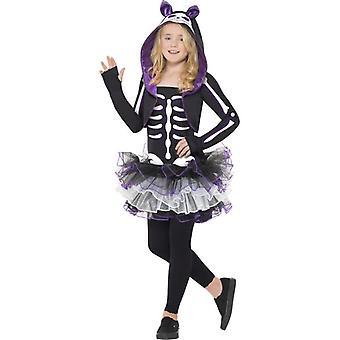 Skelly Cat Costume, Medium Age 7-9