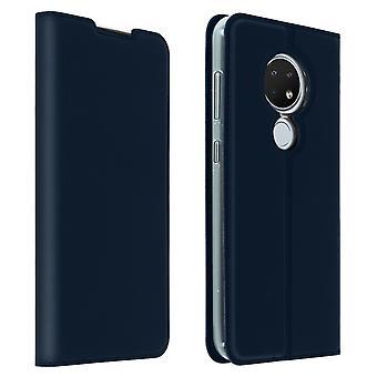 Slim flip wallet case, Business series for Nokia 7.2 / Nokia 6.2 - Dark blue