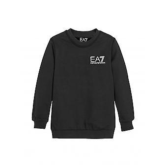 EA7 Junior EA7 Junior Black Crew Neck Logo Sweatshirt