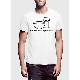 Cereali entrepernur t-shirt stampata