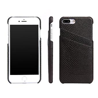 iPhone 8 PLUS,7 PLUS tapauksessa, tyylikäs deluxe käärme kuvio nahkakansi, musta