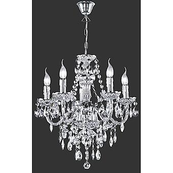 Trio Lighting L '1'4Ster Young Living Chrome Acryl Chandelier