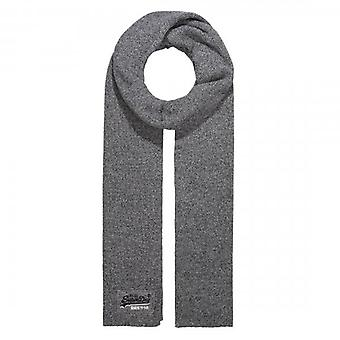 Superdry Orange Label Scarf Basalt Grey Grit Q6S