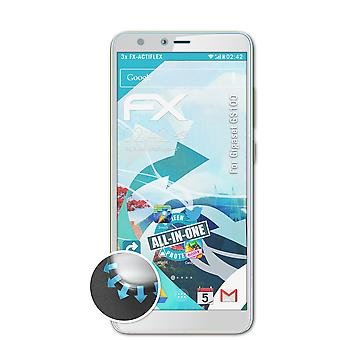 atFoliX 3x Protective Film compatible with Gigaset GS100 Screen Protector clear&flexible
