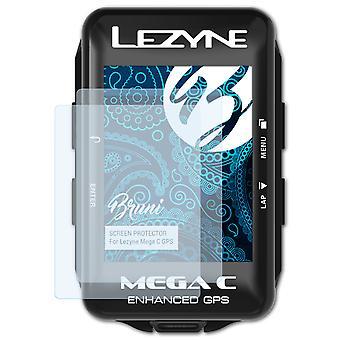 Bruni 2x näytönsuoja yhteensopiva Lezyne Mega C GPS suojaava kalvo