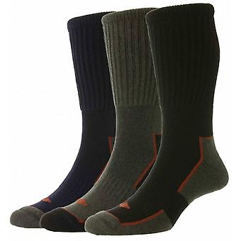 HJ HALL HJ Cotton Long 3 Pack Work Socks