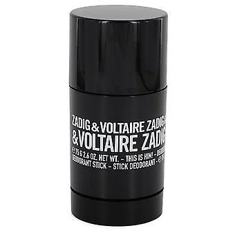 Zadig & Voltaire This is Him Deodorant Stick 75g