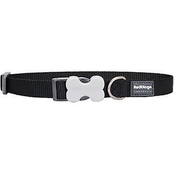 Dingo rouge lisse noir collier de chien (chiens, colliers, câbles et harnais, colliers)
