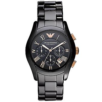 Emporio Armani Mens' Ceramic Chronograph Watch - AR1410 - Black