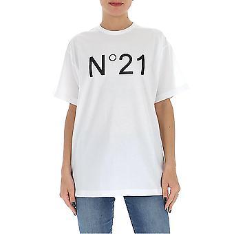 N°21 F06163141101 Women's White Cotton T-shirt