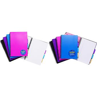 Tiger Stationery Ring Bound Subject Notebooks
