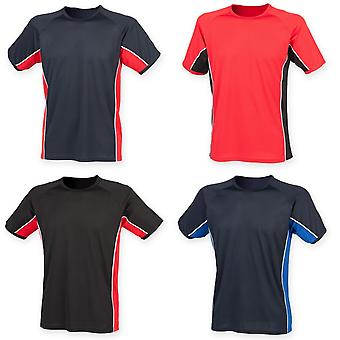 Finden & Hales Mens Short Sleeve Performance Panel Sports T-Shirt
