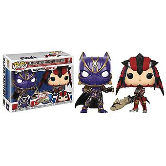 Funko Pop! Vinyl Marvel vs Capcom Black Panther vs Monster Hunter Figure 2 Pack