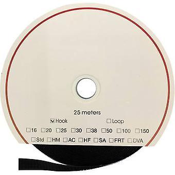 FASTECH® T0102099990125 Krok-och-loop tejp sy-on Slinga pad (L x W) 25000 mm x 20 mm Svart 25 m