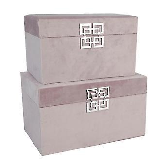 Stjernsund koru laatikko Velvet vaaleanpunainen 2-setti