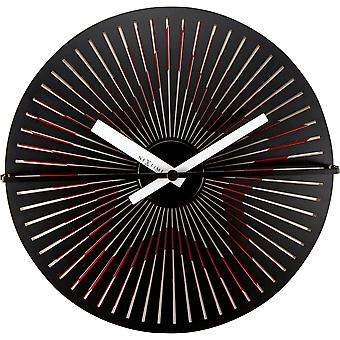 Motion clock Star - Red/White