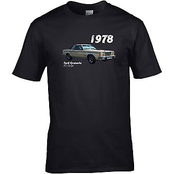 Ford Granada Coupe 70s Classic - Auto Motor - DTG Geprint T-shirt