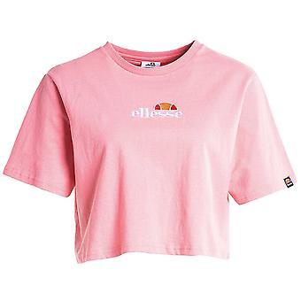 Ellesse Heritage Fireball Womens Ladies Beskurna Mode T-shirt Tee Ljus Rosa