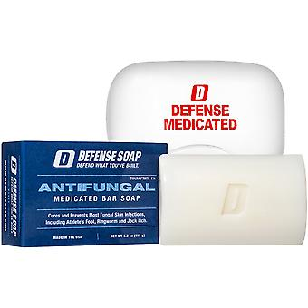 Defense Soap 4 oz. Antifungal Medicated Body Bar Soap with Soap Dish