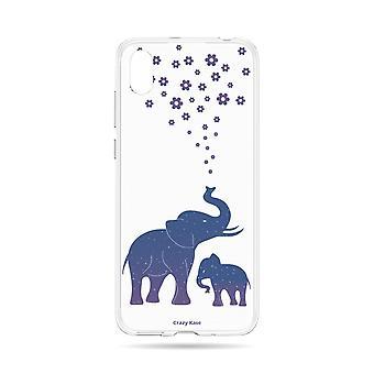 Skrov för Huawei Y5 2019 Flexibel Blå elefant