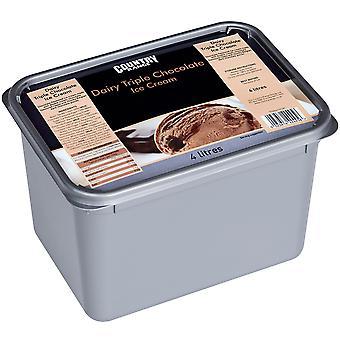 Country Range Dairy Triple Chocolate Ice Cream